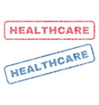 healthcare textile stamps vector image vector image