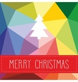 Holidays card with Merry Christmas wishes vector image