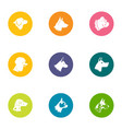 hound icons set flat style vector image vector image