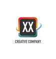 initial letter xx swoosh creative design logo vector image vector image