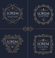 Luxury Logos Set template flourishes calligraphic vector image vector image