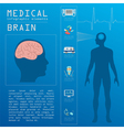 Medical and healthcare infographic Brain vector image vector image