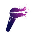 microphone icon on white background broke vector image vector image