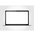 modern thin laptop with wide screen mockup vector image vector image