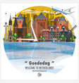 netherlands landmark global travel and journey vector image vector image