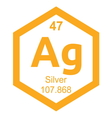 Periodic table silver vector image vector image