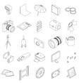 Photo studio equipment icons set vector image vector image