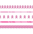 Pink ribbon international symbol of breast cancer vector image