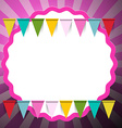 Retro Pink Background with Flags vector image vector image