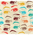 seamless background with eyes endless eye pattern vector image