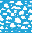 seamless pattern with cartoon clouds vector image