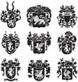 Set heraldic silhouettes no4