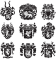 set of heraldic silhouettes No4 vector image vector image