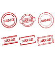 Share stamps vector image vector image