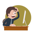 shocked businessman vector image