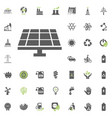 solar power station icon eco and alternative vector image