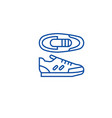 sport sneakers line icon concept sport sneakers vector image vector image