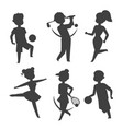 sport wellness people characters silhouette vector image