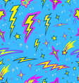 star and lightning seamless pattern vector image vector image