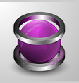 the 3d sphere with two rings vector image vector image