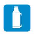 Thermos container icon camping hiking equipment vector image vector image