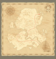 treasure island map retro wallpaper vintage vector image