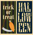 trick or treat halloween set vector image vector image