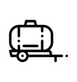 uniaxial trailer vehicle thin line icon vector image vector image