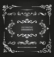 variety decorative ornaments set vector image vector image
