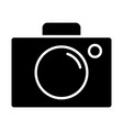 video camera silhouette icon cinema pictogram vector image