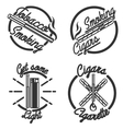Vintage smoking emblems vector image
