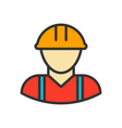 Worker Outline Icon vector image vector image