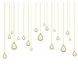 golden drops with brilliants vector image