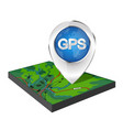 map navigation marker vector image