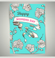 8 march womens day vintage card vector image