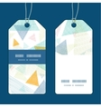 abstract fabric triangles vertical stripe frame vector image vector image