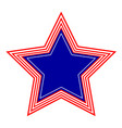 american star symbol emblem logo icon vector image
