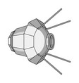 artificial space satellite of the earth space vector image vector image
