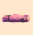 background of the african landscape sunset vector image vector image