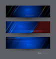 banners set with image of speed movement pattern vector image vector image