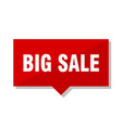 big sale red tag vector image vector image