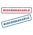 Biodegradable Rubber Stamps vector image vector image