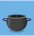 black cooking pot empty black saucepan vector image vector image