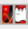 business card black and red vector image vector image