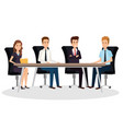 business people in the boardroom isometric avatars vector image
