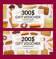 cartoon bakery discount or gift vector image vector image
