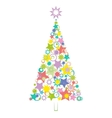 Cartoon Christmas Holiday Tree vector image