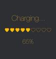 charging heart bar vector image vector image