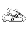 cleats shoes soccer or football related icon image vector image vector image