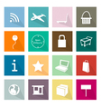 Collection of 16 Online Shopping Item Icons Banner vector image vector image